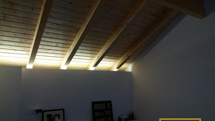 Efeito da iluminnação indireta no teto