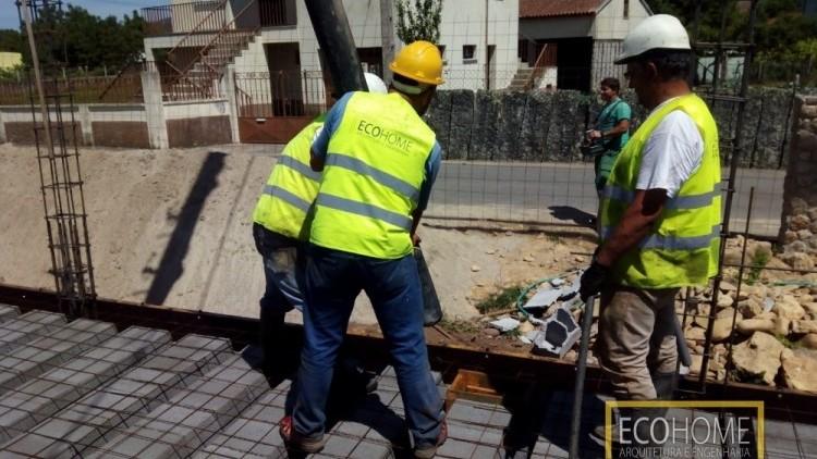 Betonagem de laje de piso
